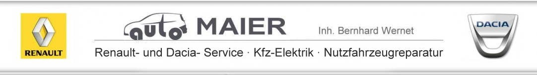 auto MAIER – Ihr Renault und Dacia Partner